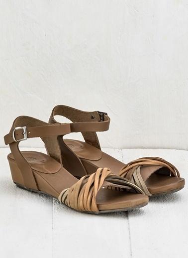 Deri Sandalet-Elle